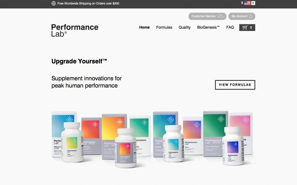 performance lab® website